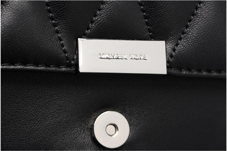 Bolsos de mano Michael Michael Kors Jade MD GUSSET CLUTCH Negro vista lateral izquierda