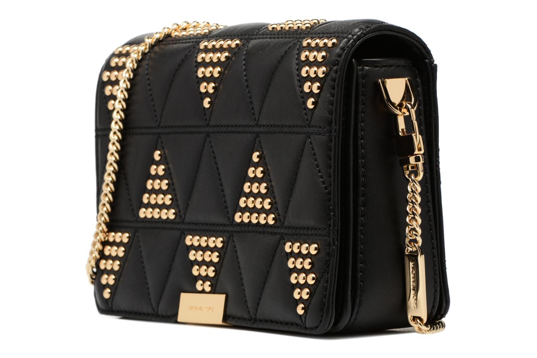 Bolsos de mano Michael Michael Kors Jade MD GUSSET CLUTH Negro vista del modelo