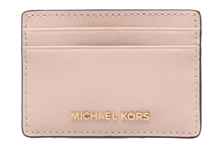 Marroquinería pequeña Michael Michael Kors Money Pieces Card Holder Rosa vista de detalle / par