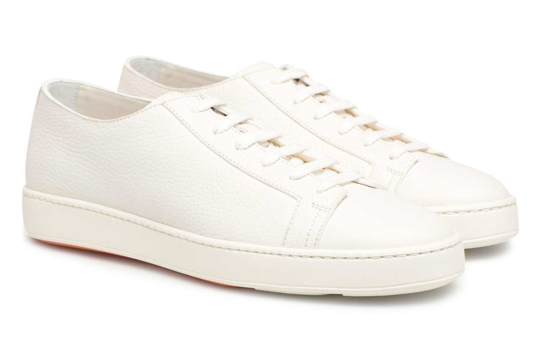 Sneakers Santoni Clean Icon Wit 3/4'