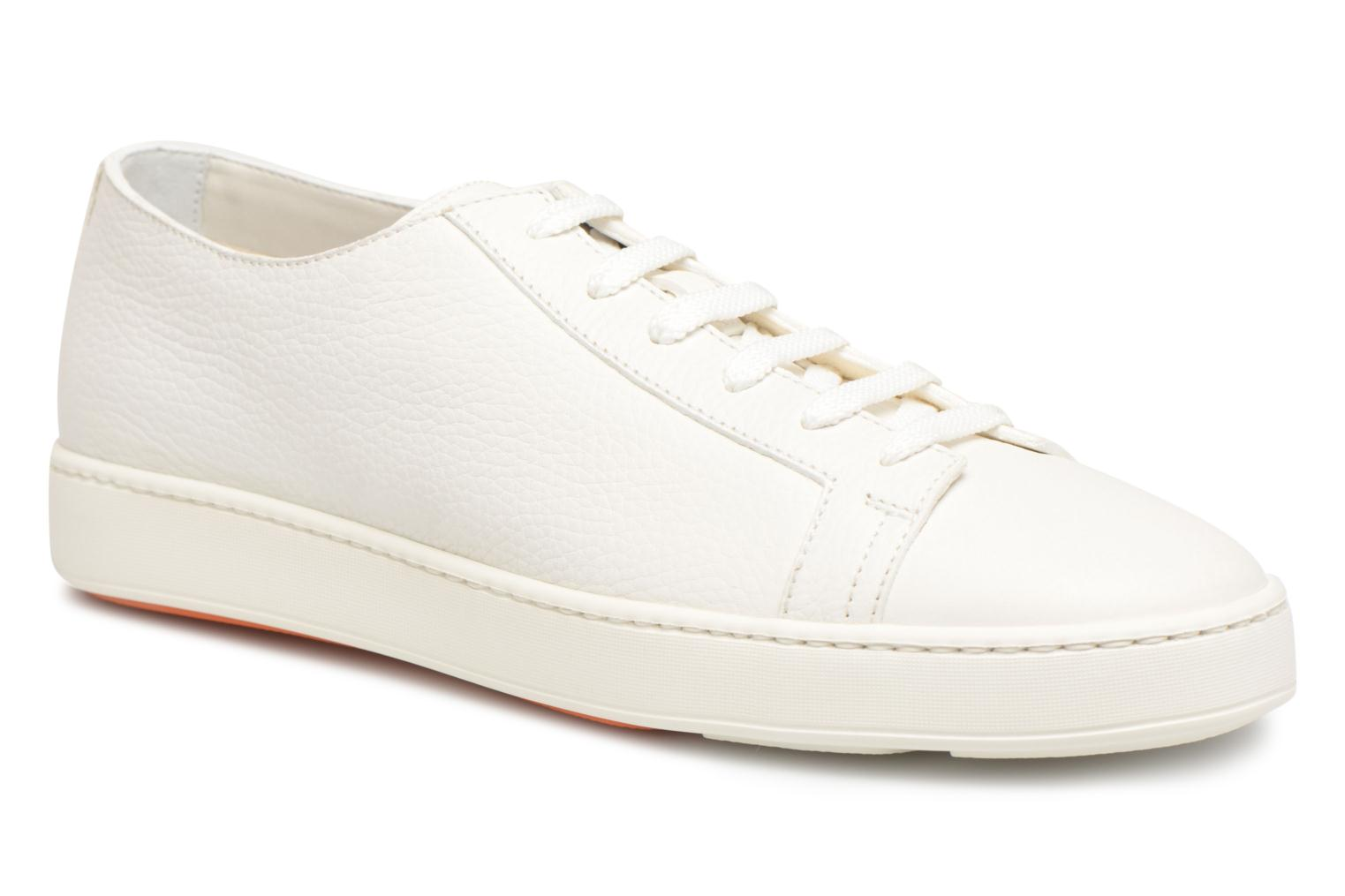 Sneakers Santoni Clean Icon Wit detail