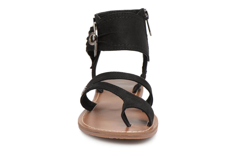 Sandales et nu-pieds Les P'tites Bombes Pensée velours Noir vue portées chaussures