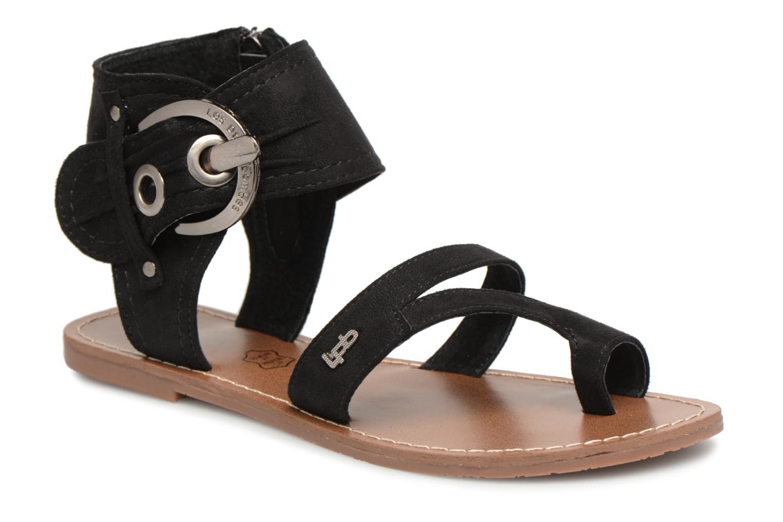 Sandales et nu-pieds Les P'tites Bombes Pensée velours Noir vue détail/paire
