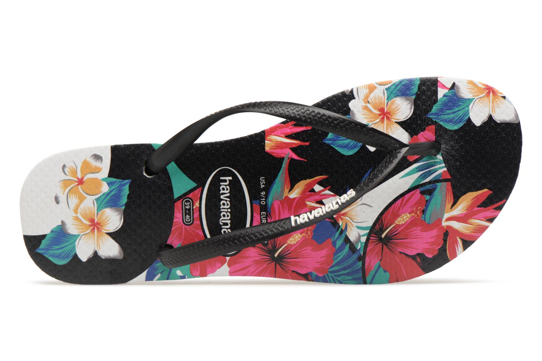 Slim Tropical Floral Black