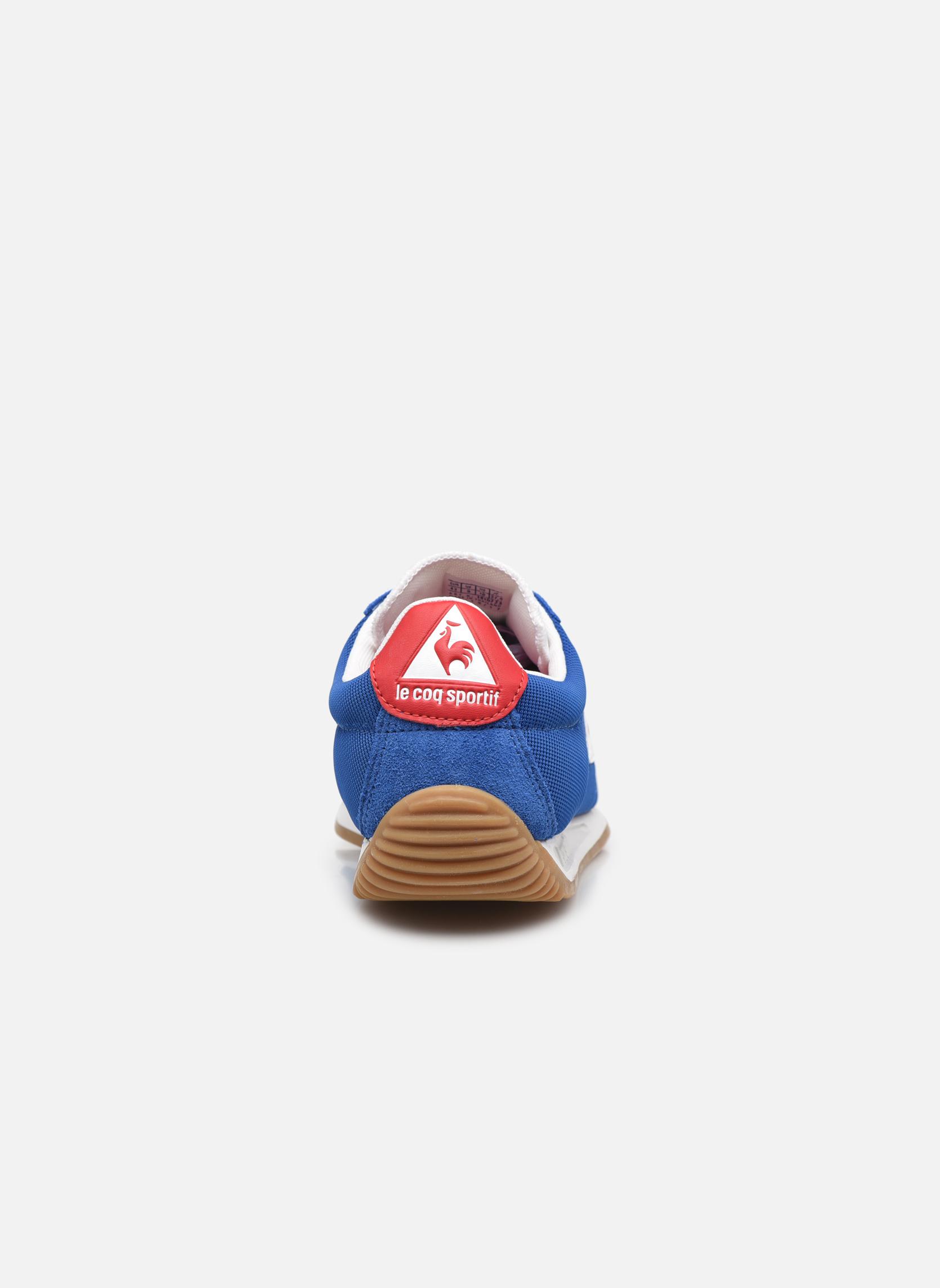 Baskets Le Coq Sportif Quartz Nylon Gum Bleu vue droite