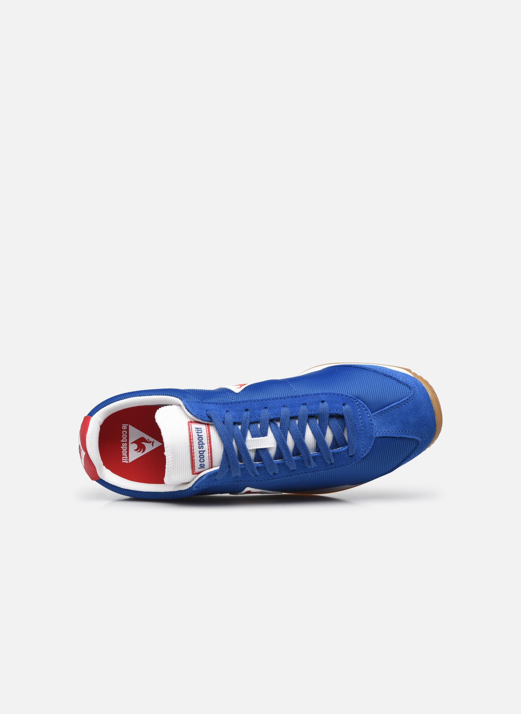 Baskets Le Coq Sportif Quartz Nylon Gum Bleu vue gauche
