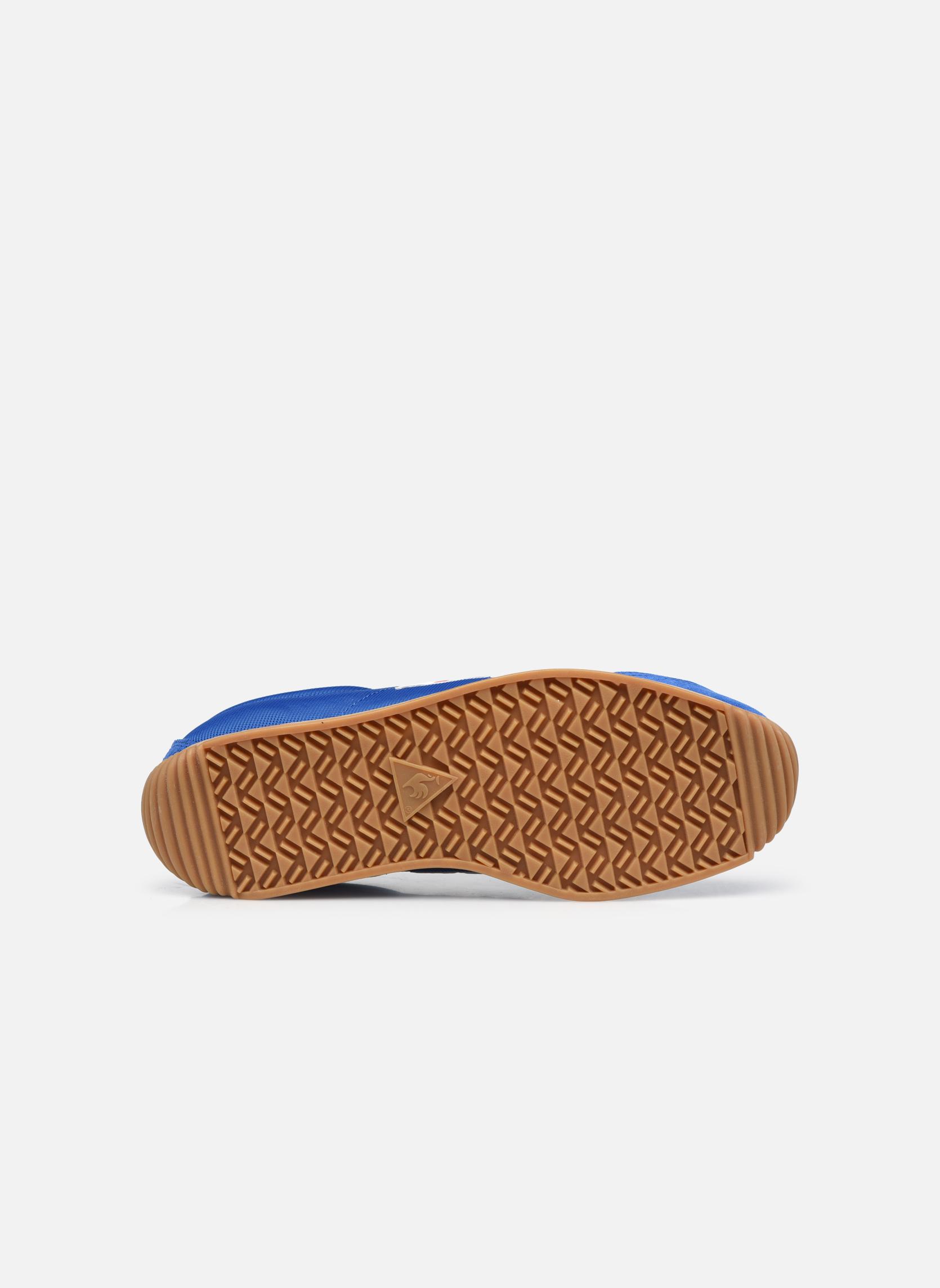 Baskets Le Coq Sportif Quartz Nylon Gum Bleu vue haut