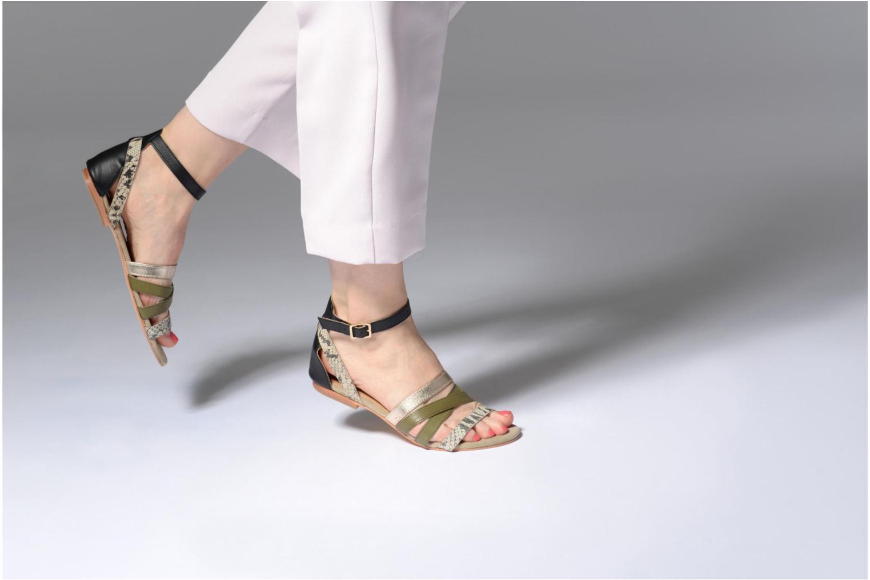 Sandales et nu-pieds Made by SARENZA Carioca Crew Sandales Plates #1 Vert vue bas / vue portée sac