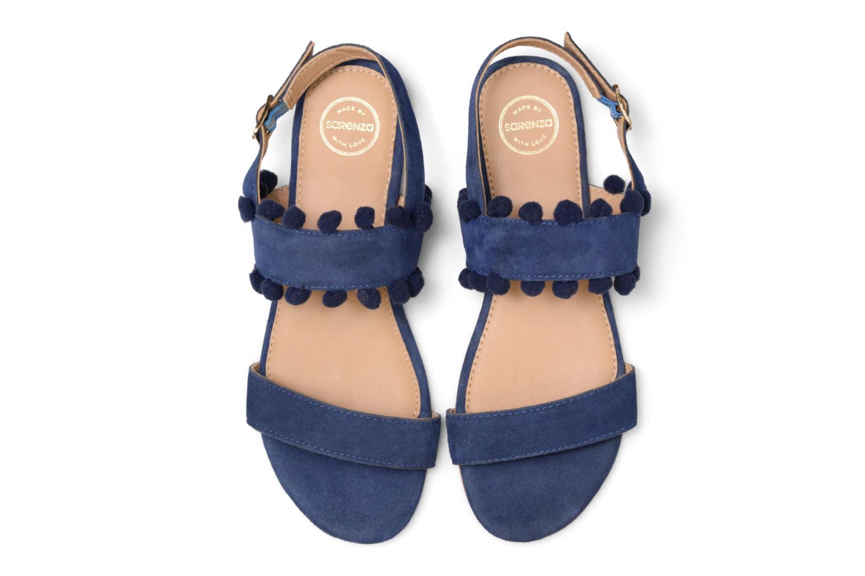 Sandales et nu-pieds Made by SARENZA Bombay Babes Sandales Plates #2 Bleu vue portées chaussures