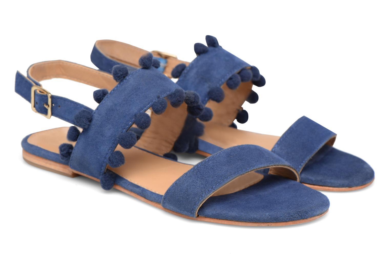 Sandales et nu-pieds Made by SARENZA Bombay Babes Sandales Plates #2 Bleu vue derrière
