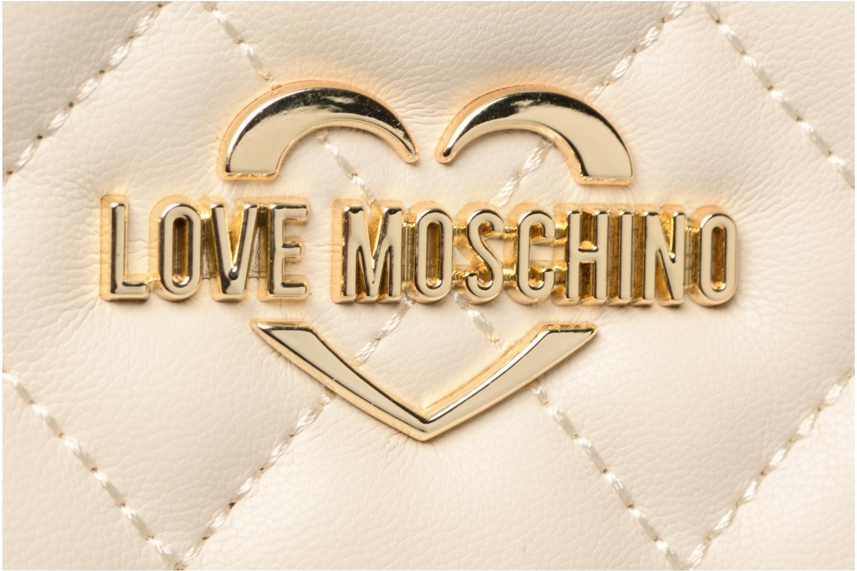 Sacs à main Love Moschino Cabas Chaine Super Quilted Blanc vue gauche