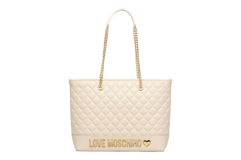 Sacs à main Love Moschino Cabas Chaine Super Quilted Blanc vue détail/paire