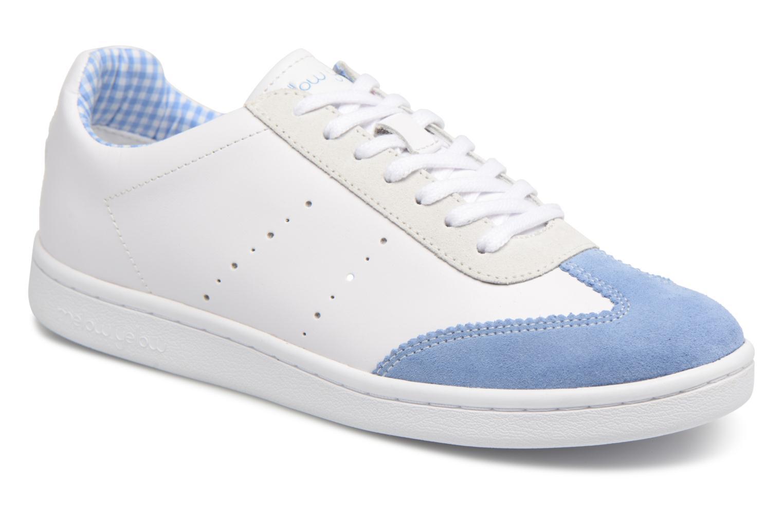 Baskets cuir Dallow, Blanc/Bleu