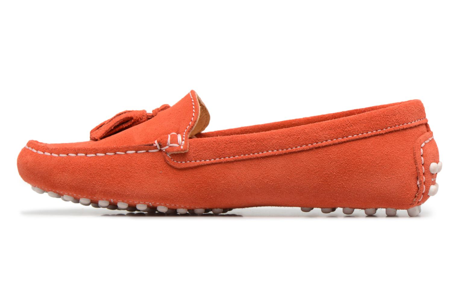 Mocassins Georgia Rose Stalimou Orange vue face