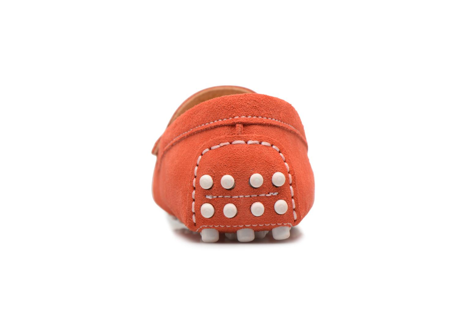 Mocassins Georgia Rose Stalimou Orange vue droite