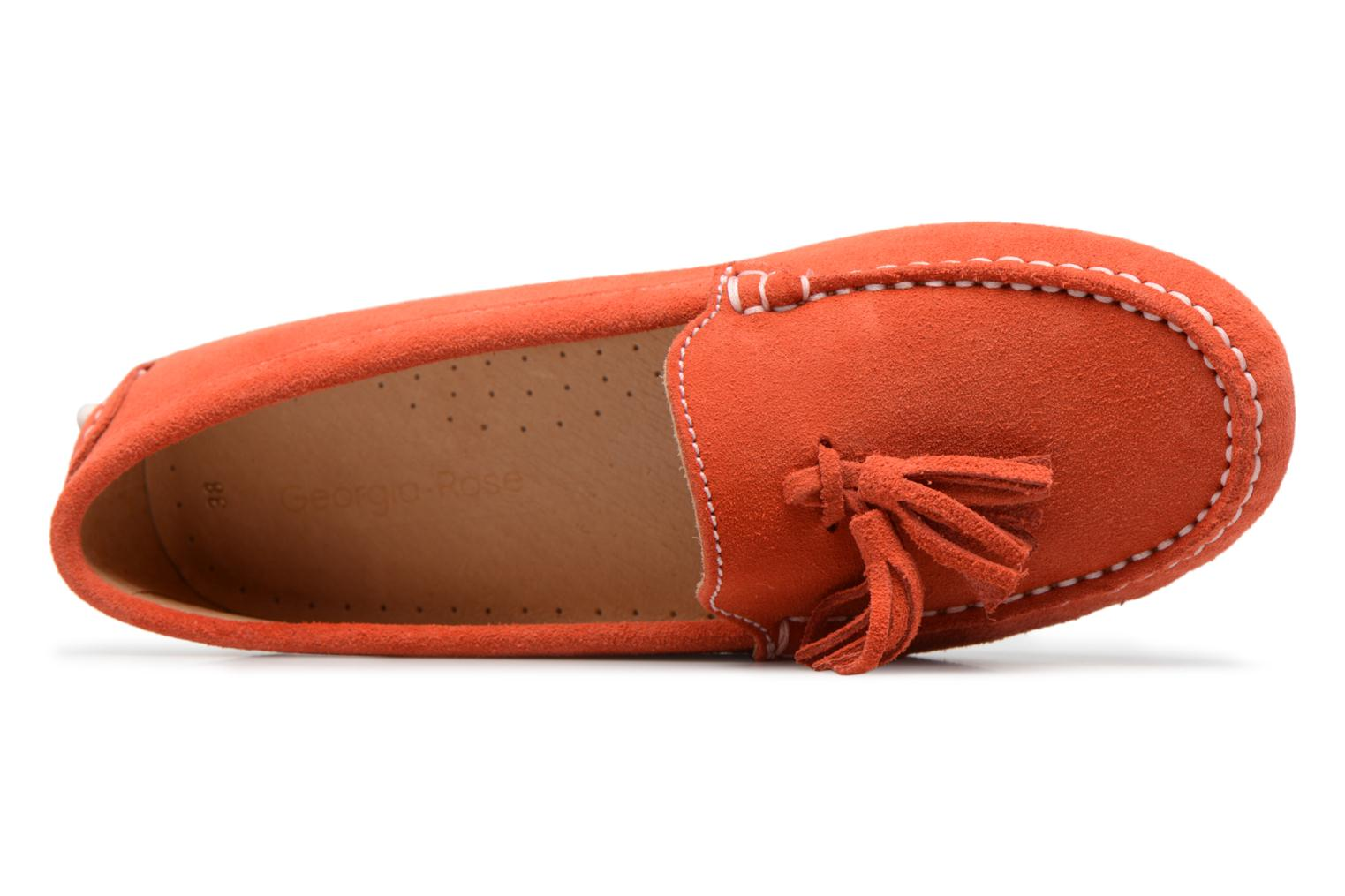 Mocassins Georgia Rose Stalimou Orange vue gauche