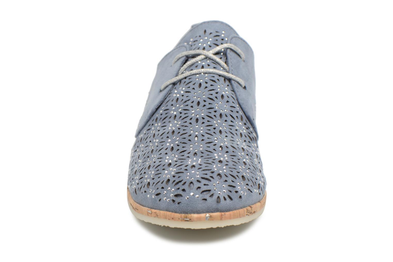 Chaussures à lacets Marco Tozzi Bellu Bleu vue portées chaussures