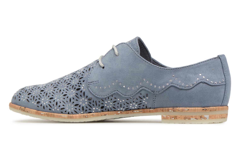 Chaussures à lacets Marco Tozzi Bellu Bleu vue face