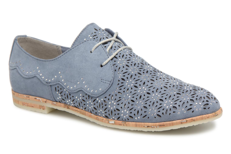 Chaussures à lacets Marco Tozzi Bellu Bleu vue détail/paire