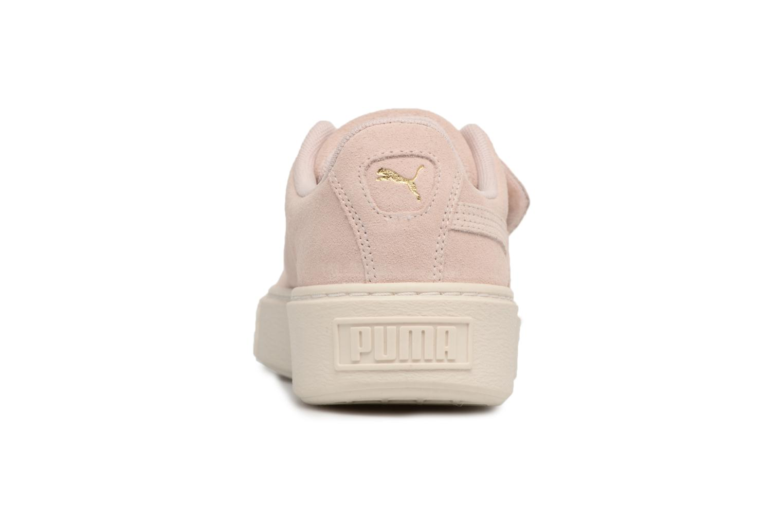 Sneakers Puma Suede Platform Strap Roze rechts