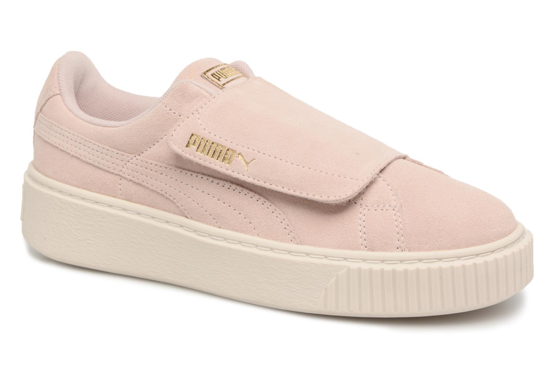 Sneakers Puma Suede Platform Strap Roze detail