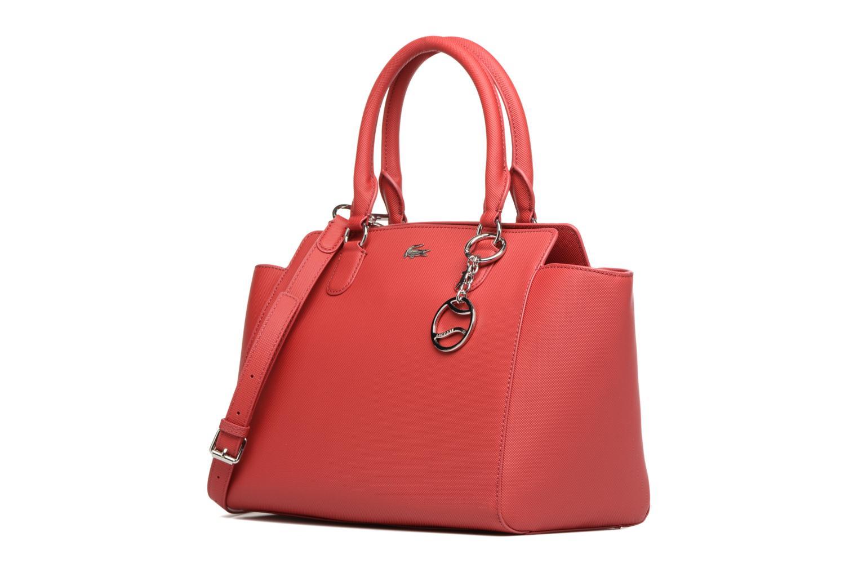 Sacs à main Lacoste SHOPPING BAG Rouge vue portées chaussures