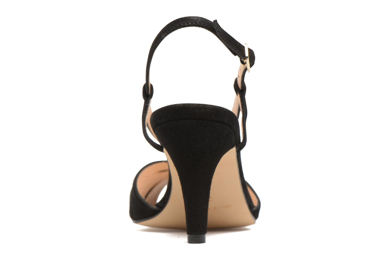 Sandales et nu-pieds Georgia Rose Exquise Noir vue droite