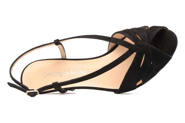Sandales et nu-pieds Georgia Rose Exquise Noir vue gauche
