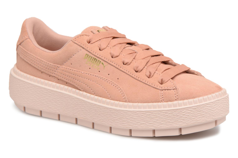 Zapatos promocionales Puma Suede Platform Trace Wn's (Rosa) - Deportivas   Zapatos casuales salvajes