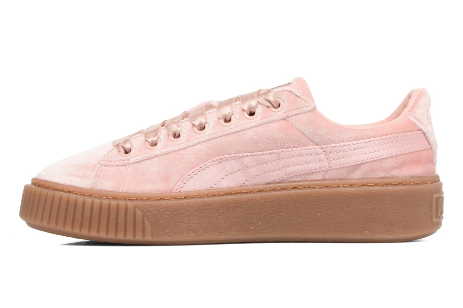 Baskets Puma W Basket Platform VS Rose vue face