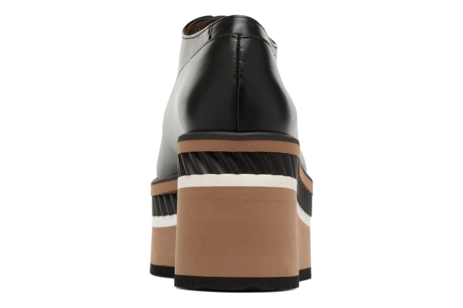 Lace-up shoes Clergerie LOMIA Black view from the right