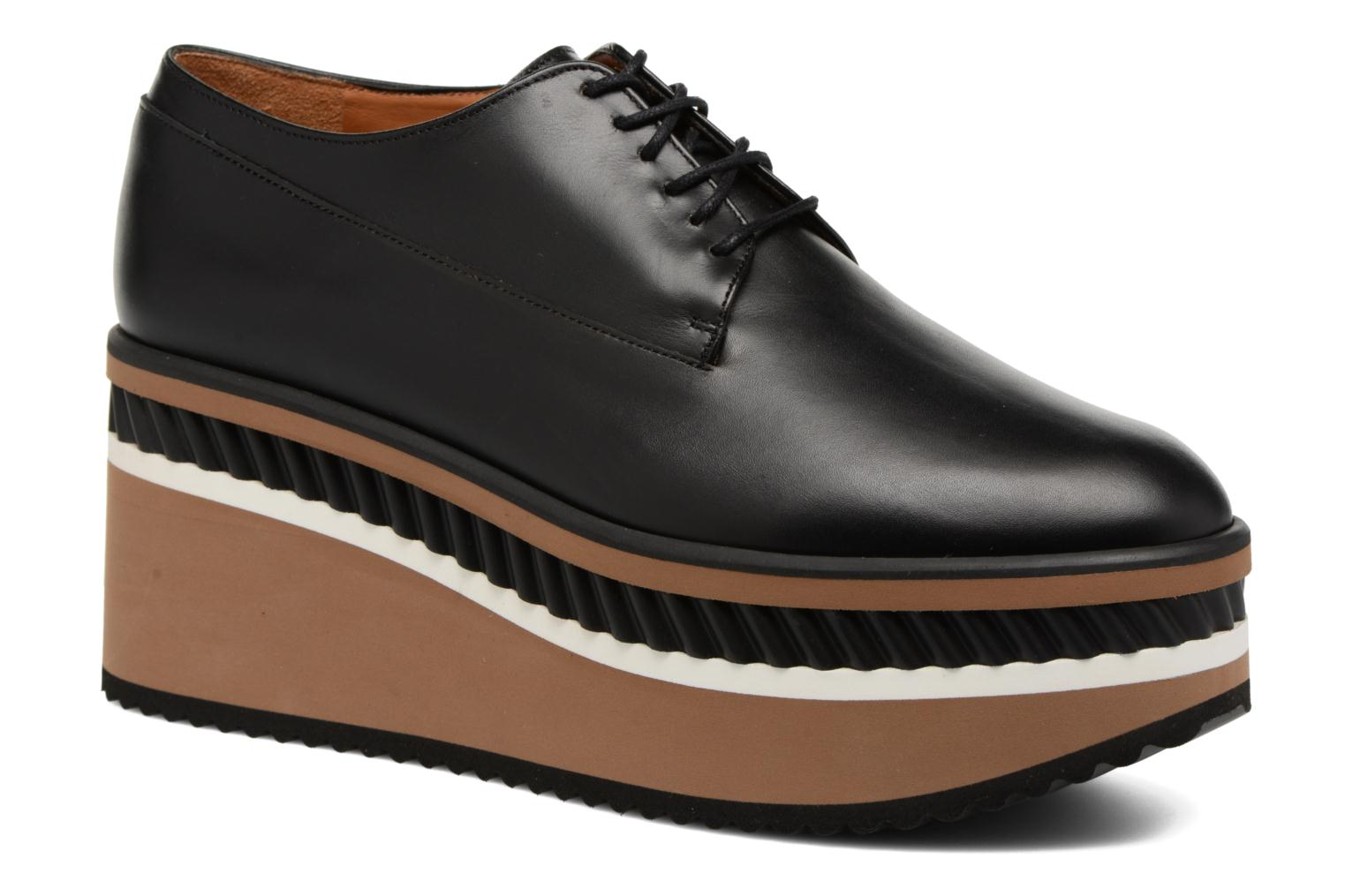 Lace-up shoes Clergerie LOMIA Black detailed view/ Pair view
