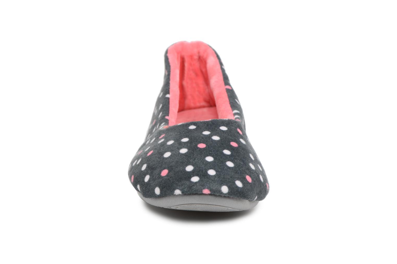 Chaussons Dim D Belinda Gris vue portées chaussures