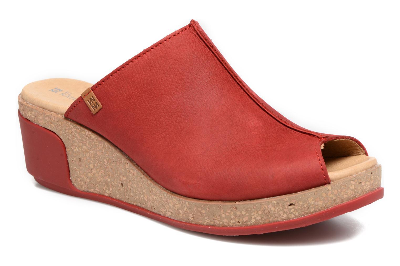 Mules et sabots El Naturalista Leaves N5005 Rouge vue détail/paire