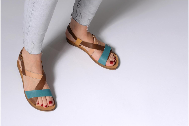Sandales et nu-pieds El Naturalista Tulip N5181 Marron vue bas / vue portée sac