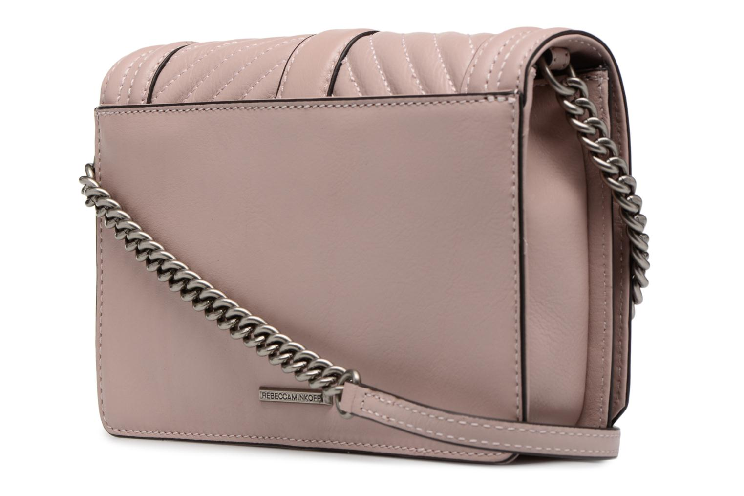 Sacs à main Rebecca Minkoff Chevron Quilted Small Love Crossbody Rose vue droite