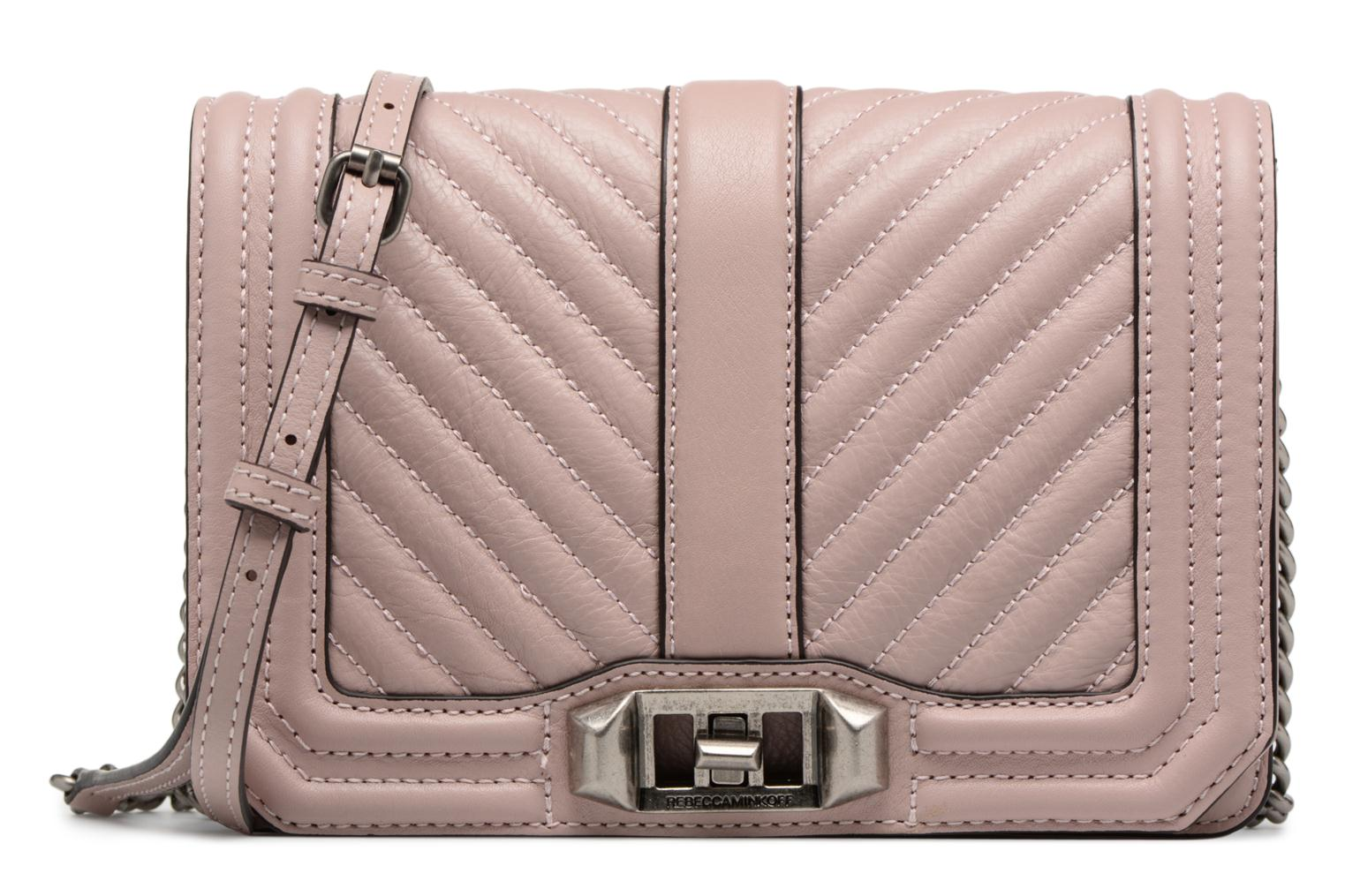 Sacs à main Rebecca Minkoff Chevron Quilted Small Love Crossbody Rose vue détail/paire