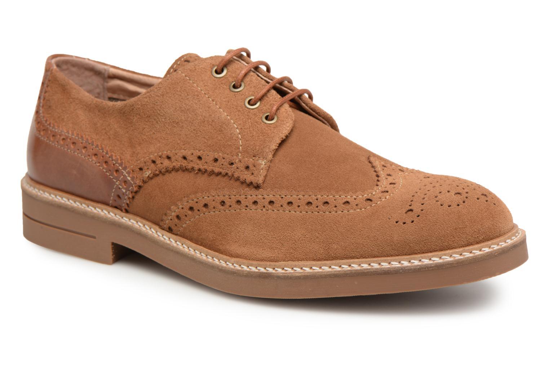 Schmoove Crew Perfo Suede (Marron) - Chaussures à lacets chez Sarenza (315488)