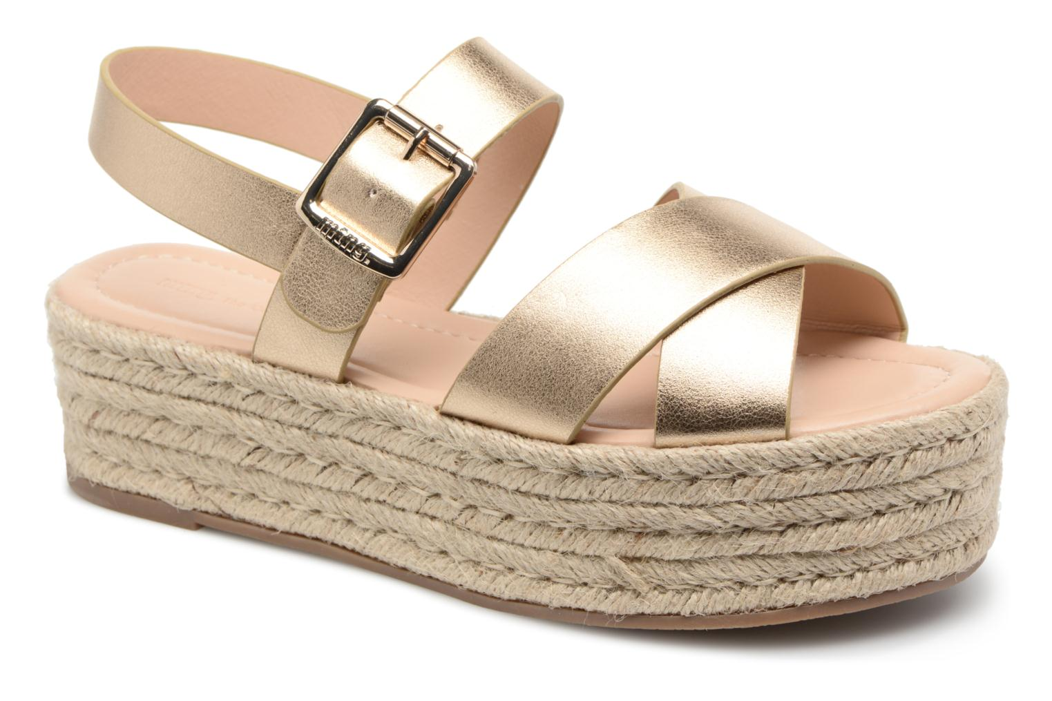 Espadrilles MTNG Tessy Bronze and Gold detailed view/ Pair view