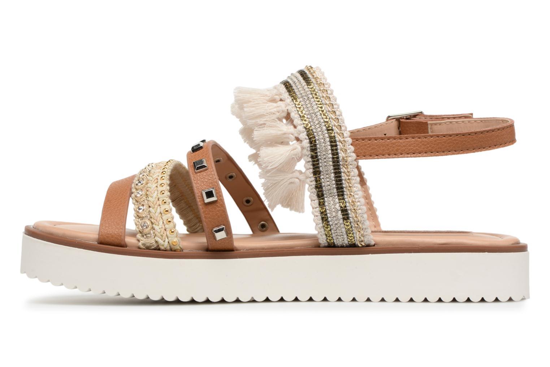 Sandales et nu-pieds MTNG Carli Marron vue face