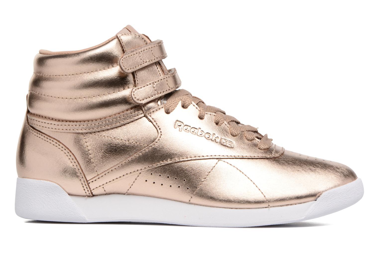 Zapatos promocionales Reebok Freestyle Hi Metallic (Oro y bronce) - Deportivas   Venta de liquidación de temporada