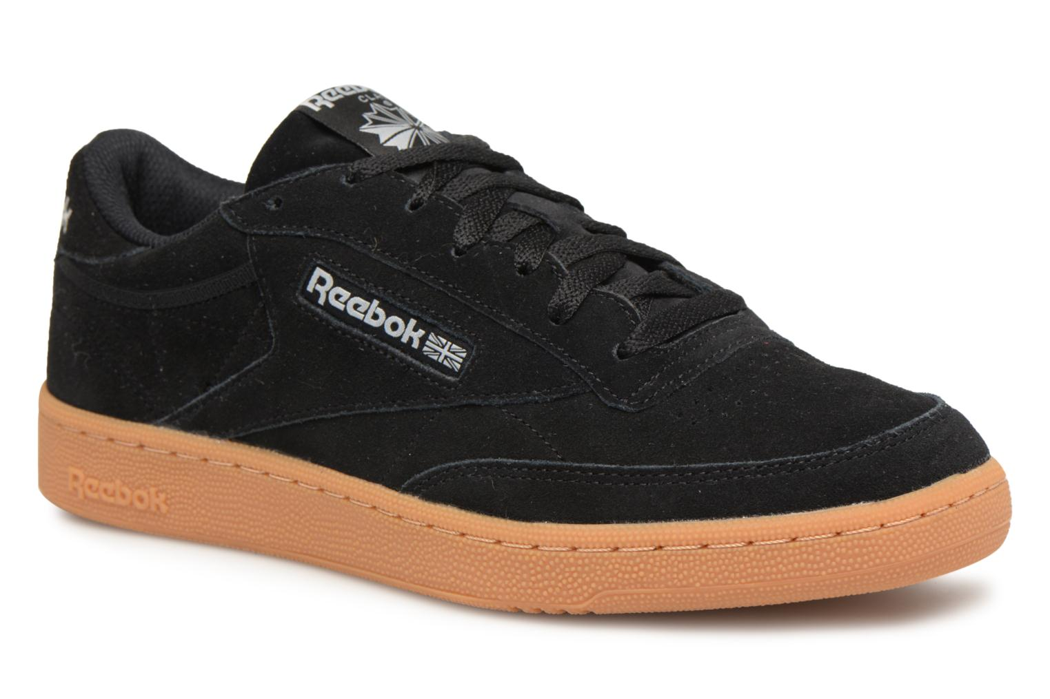 Trainers Reebok Club C 85 Gs Black detailed view/ Pair view