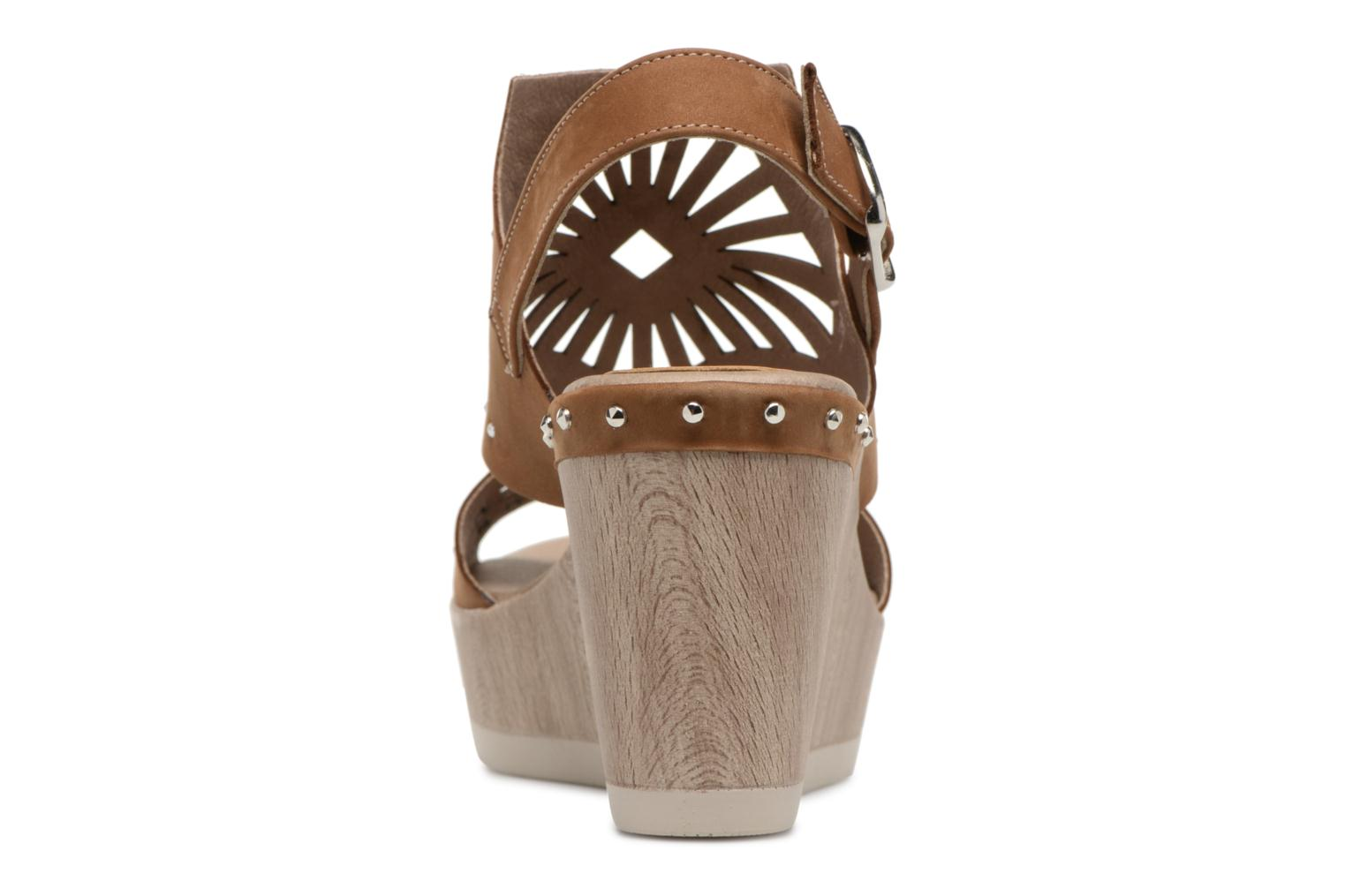 Sandals Dorking Salma 7487 Brown view from the right