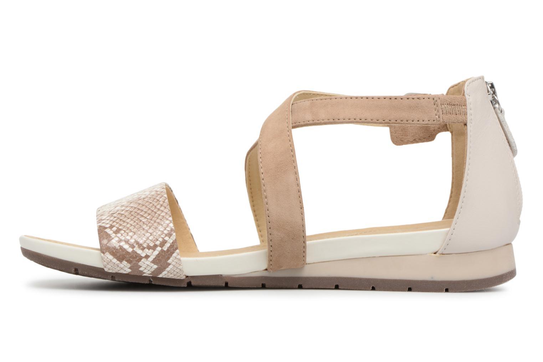 Sandales et nu-pieds Geox D FORMOSA A D8293A Beige vue face