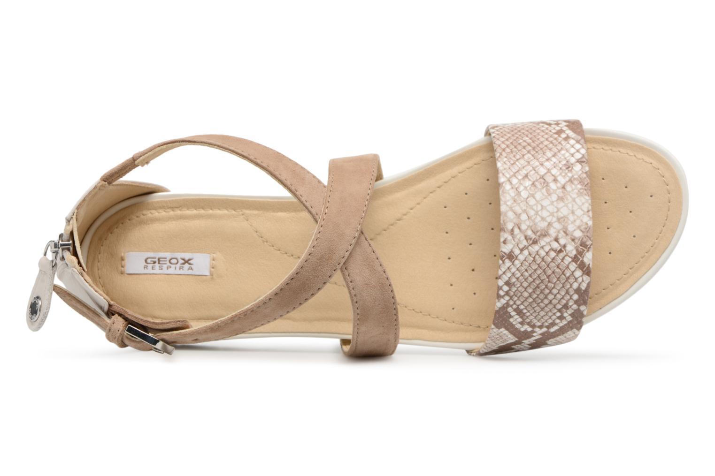 Sandales et nu-pieds Geox D FORMOSA A D8293A Beige vue gauche