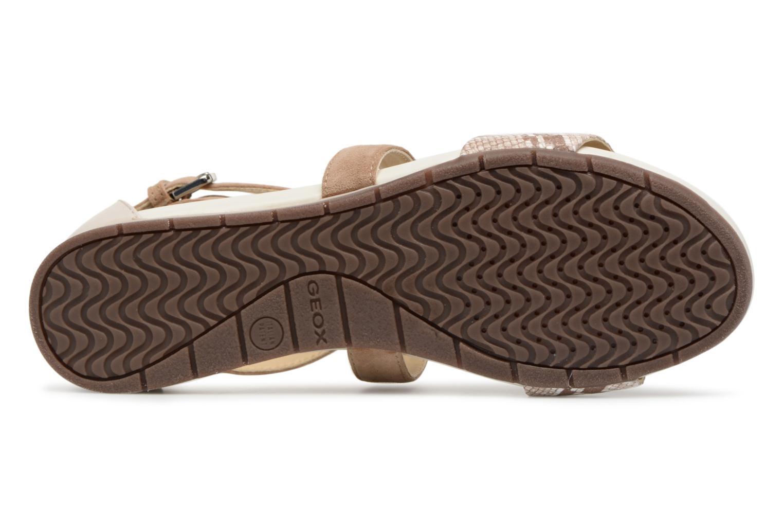 Sandales et nu-pieds Geox D FORMOSA A D8293A Beige vue haut