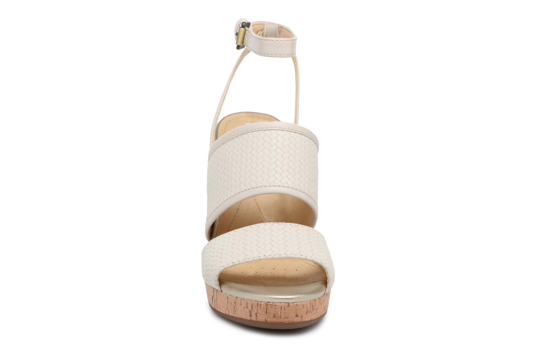 Sandaler Geox D MAUVELLE A D824LA Vit bild av skorna på