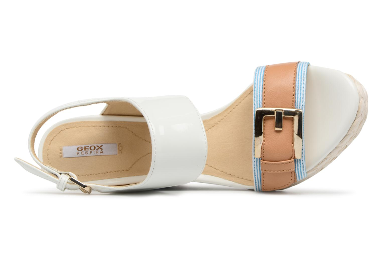 Sandales et nu-pieds Geox D JANIRA E D82P6E Blanc vue gauche