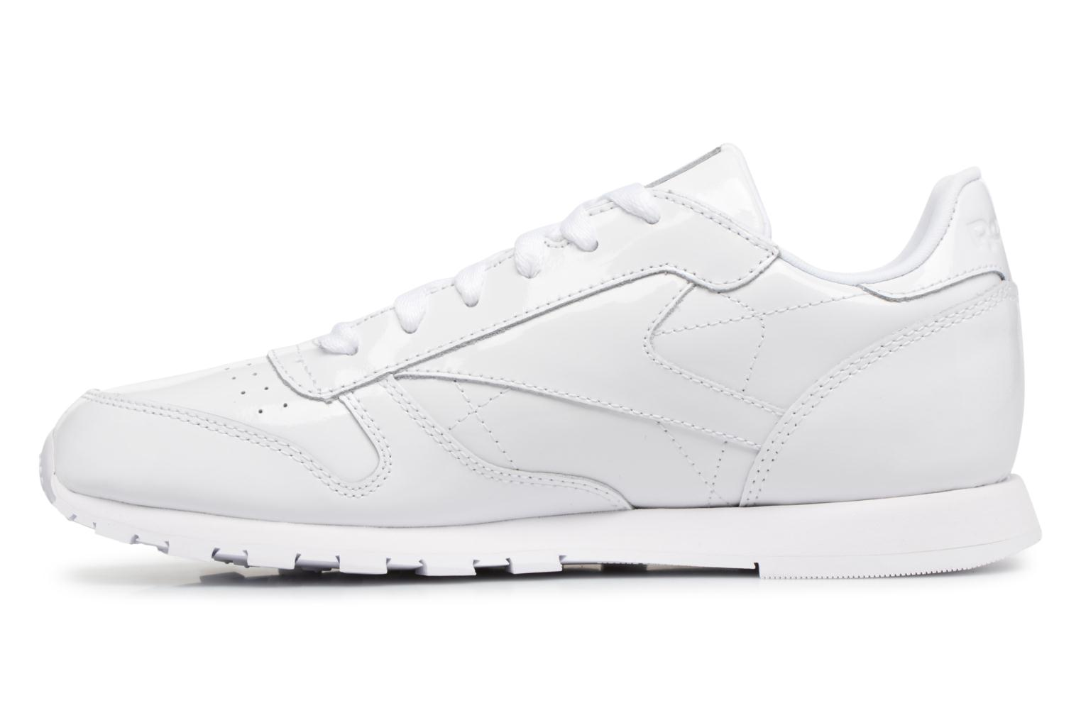 Sneakers Reebok Classic Leather Patent J Wit voorkant