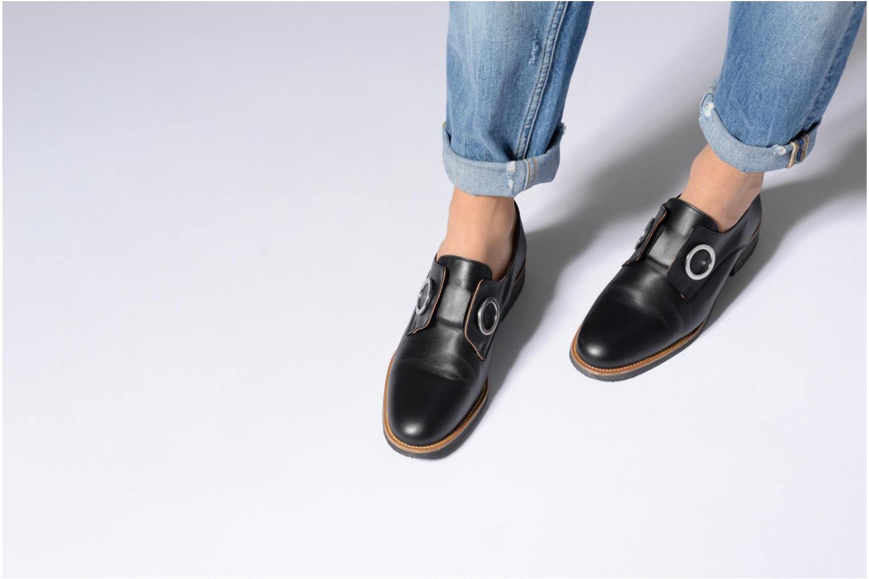 Mocassins Made by SARENZA 90's Girls Gang Chaussures à Lacets #2 Noir vue bas / vue portée sac